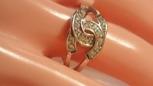 Silber Ring 925 mit Zirkonia Steine Gr.18