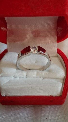 Silber Ring aus 925 mit Zirkonia Stein Gr.19