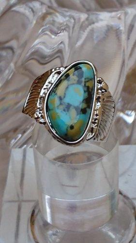 Silber Ring Edelstein Gr.20