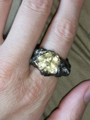 Silber Ring mit Echt Citrin