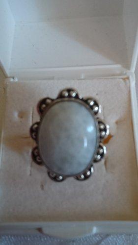Silber Ring  mit Natur Stein Gr.17 (Gr.54)