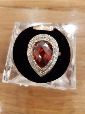 Silber Ring mit  Swarovski Steine