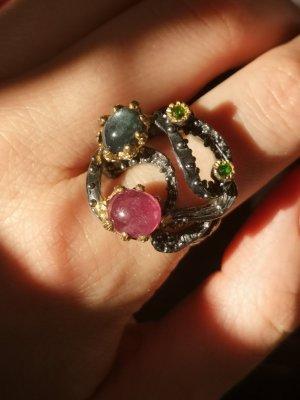 Silber Ring, Rubin