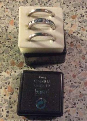 Silber-Ring-Set. 3tlg. Hellblaue. St. Neu.