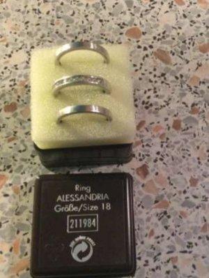 Silber-Ring-Set. 3tlg. Neu