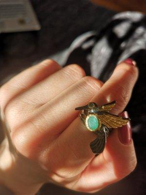 Silber Ring, Smaragd