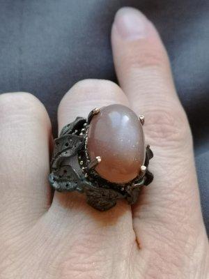 Silber Ring, Sonne Stein