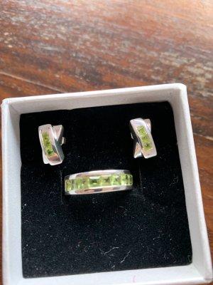Silber Ring und Ohrringe