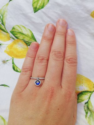 Pandora Silver Ring silver-colored-blue