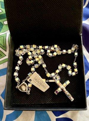 Silber-Rosenkranz Perle silber/cristall mit Swarovski Elementen Neu