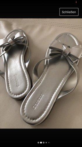Silber Sandalen Flipflops