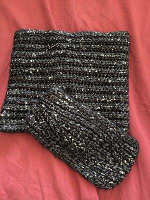 Silber Schal mit Stirnband