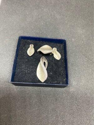 Silber Set Ohrringe, Ring und Anhänger