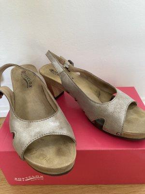 Softclox Socque gris clair cuir