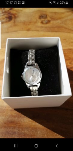 Six Watch With Metal Strap silver-colored