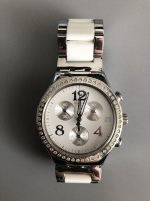 Silber weiße Uhr von Swatch irony