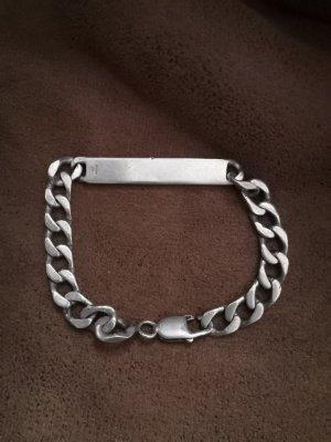 echt Silber 925 Brazalete de plata color plata