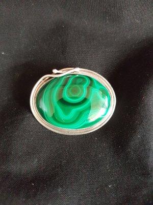 Spilla verde-argento Argento