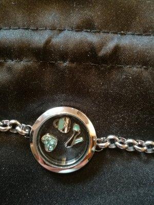 silberfärbiges Armband