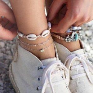 Bransoletka na stopę srebrny