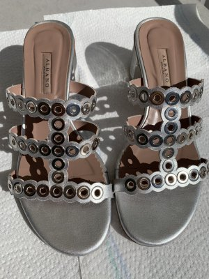 Albano Strapped High-Heeled Sandals silver-colored