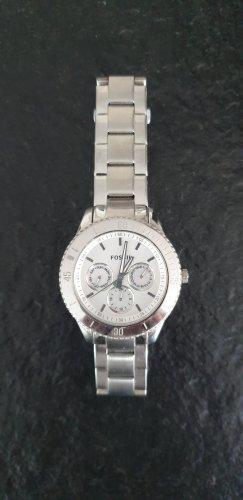 Fossil Zegarek z metalowym paskiem jasnoszary Metal