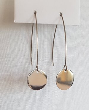 Hand made Dangle silver-colored