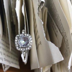 Zilveren ring wit-zilver