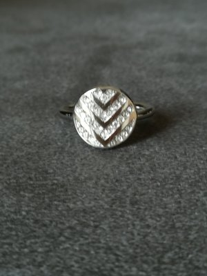 Fossil Statement ring zilver