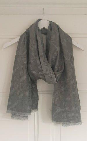 Michael Kors Bufanda de punto color plata-gris claro tejido mezclado