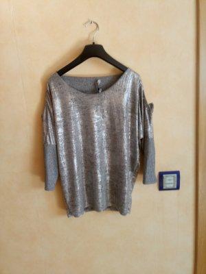 Camicia a tunica argento