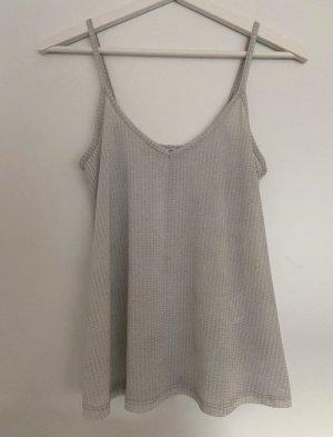 Pimkie Top estilo halter color plata