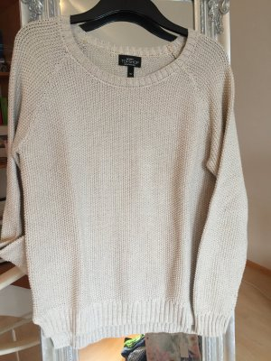 Topshop Knitted Sweater cream-silver-colored