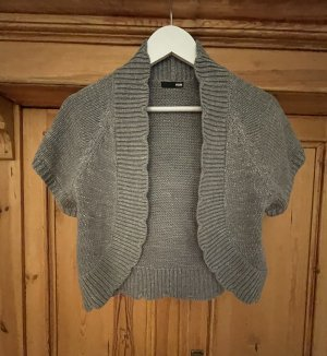 H&M Short Sleeve Knitted Jacket silver-colored-grey