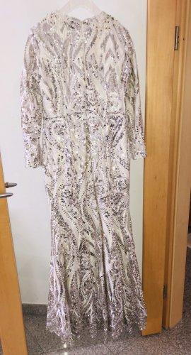 Silbergraues Abendkleid