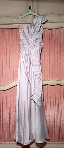 Silbergraues Abendkleid mit Strass | One Shoulder