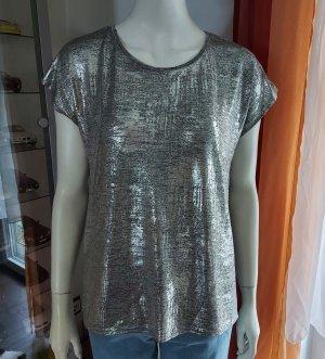 silbergraues Shirt Größe M