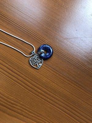 Medaglione blu-argento