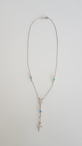 Silver Chain silver-colored-turquoise