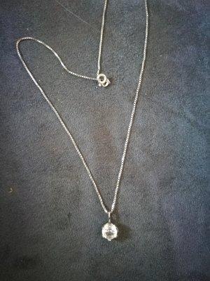 Silberkette mit Bergrkistall