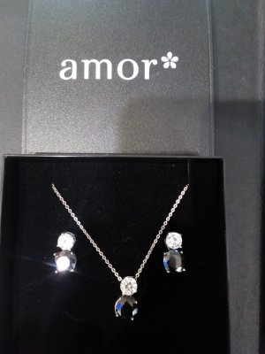 amor Necklace black-silver-colored