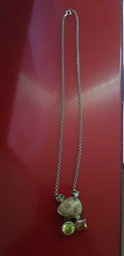 Zilveren ketting veelkleurig