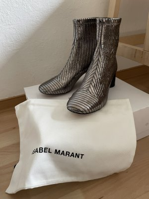 Silbermetallic Stiefelette |Isabel Marant