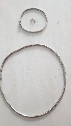 FAYE Collar estilo collier color plata