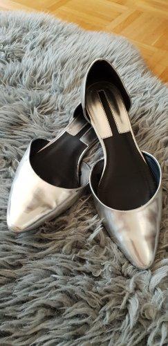silberne Ballerinas Zara