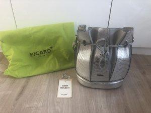 Picard Bolso tipo marsupio color plata-gris Cuero