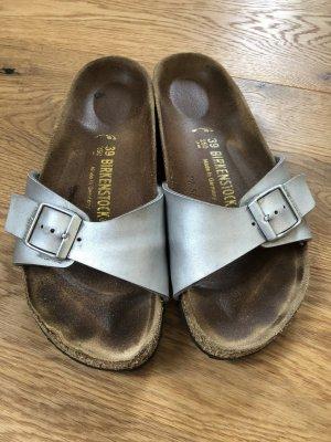 Birkenstock Sandalias cómodas color plata