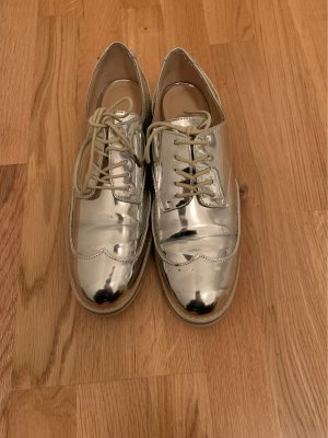Zara Wingtip Shoes silver-colored
