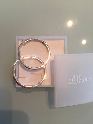 Fashion hero for s.Oliver Pendientes tipo aro gris claro