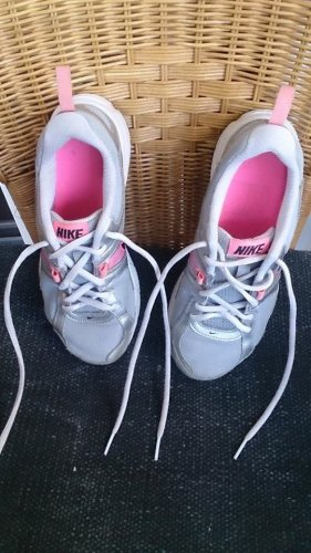 Nike Lace-Up Sneaker silver-colored mixture fibre